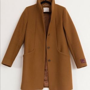 Aritzia Wilfred Cocoon Coat - Camel - Small